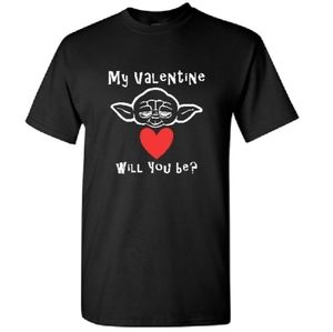 Baby Yoda My Valentine Will You Be Funny T Shirt